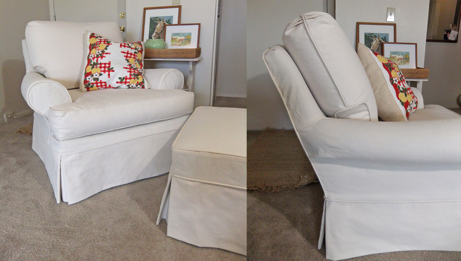 Image of: Custom Slipcovers In Natural Canvas The Slipcover Maker