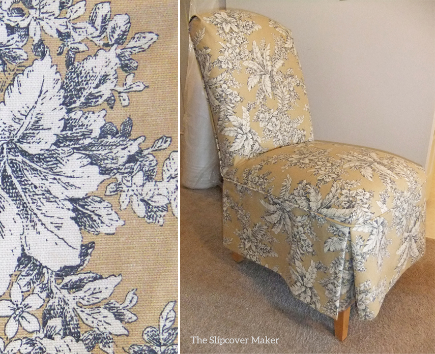 Toile Slipcovers For Parson Chairs