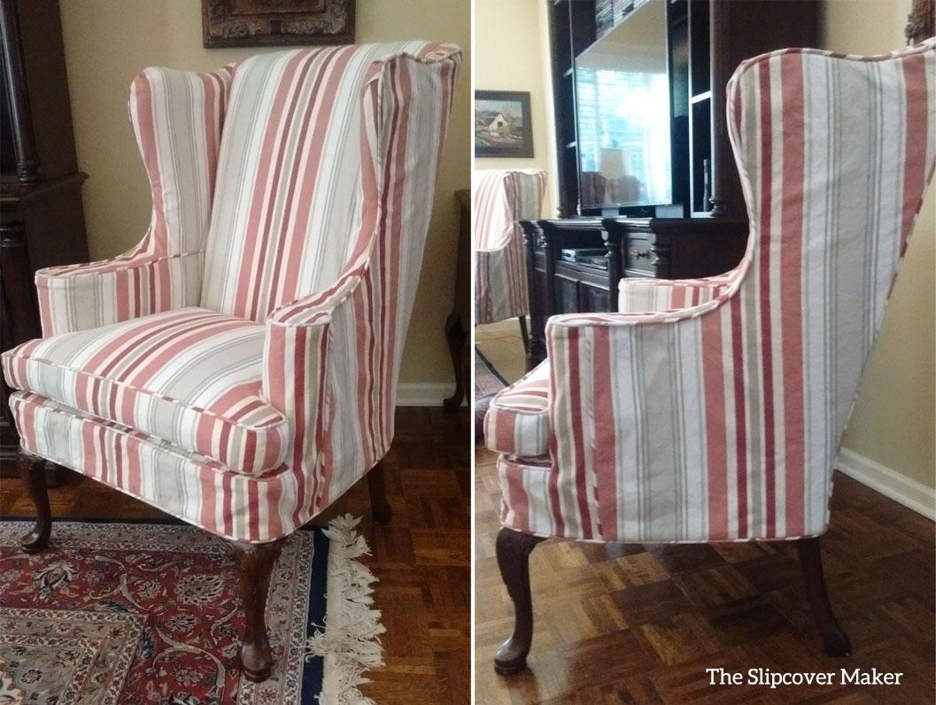 Awning Stripe Slipcovers Update